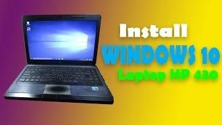 Install windows 10 di Laptop HP 430