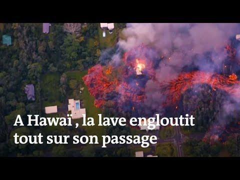 Eruption 脿 Hawa茂 : la lave engloutit tout sur son passage