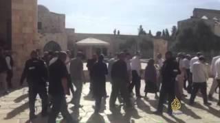 القدس- مجموعات من المستوطنين تقتحم المسجد الأقصى