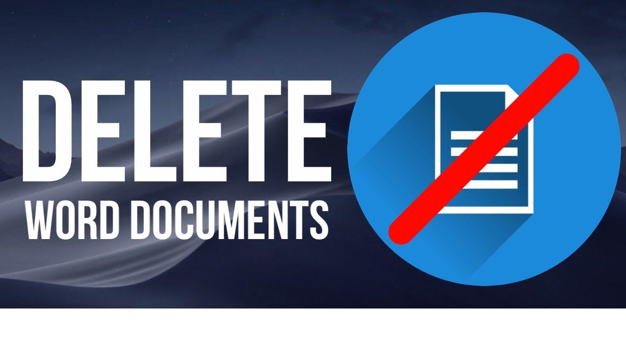 delete word document on mac