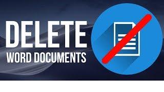 How to Delete Word Documents on Mac   MacBook , iMac, Mac Pro, Mac mini