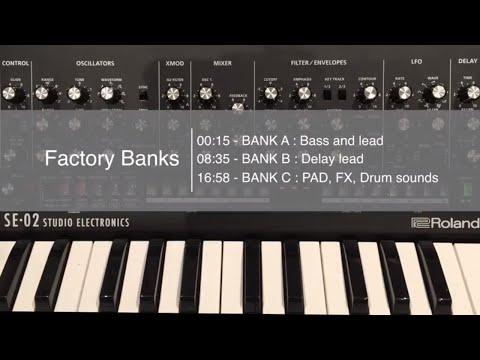 Roland SE-02 factory sounds demo