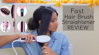Fast Brush Hair Straightener | Curly Hair Review | lovekenziie