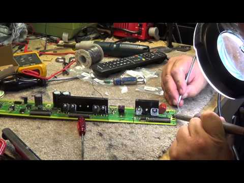 Panasonic TC P50U50 Plasma dead. Trouble code 8, SS board repair