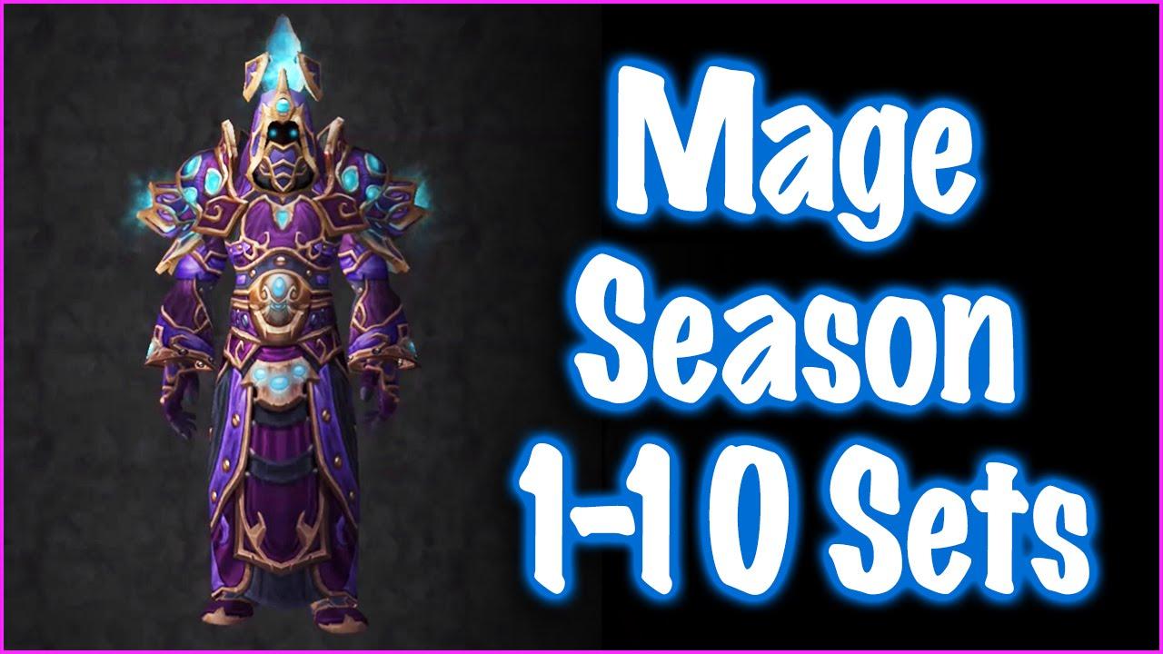 Jessiehealz - Mage Season 1-10 PvP Sets (World of Warcraft)
