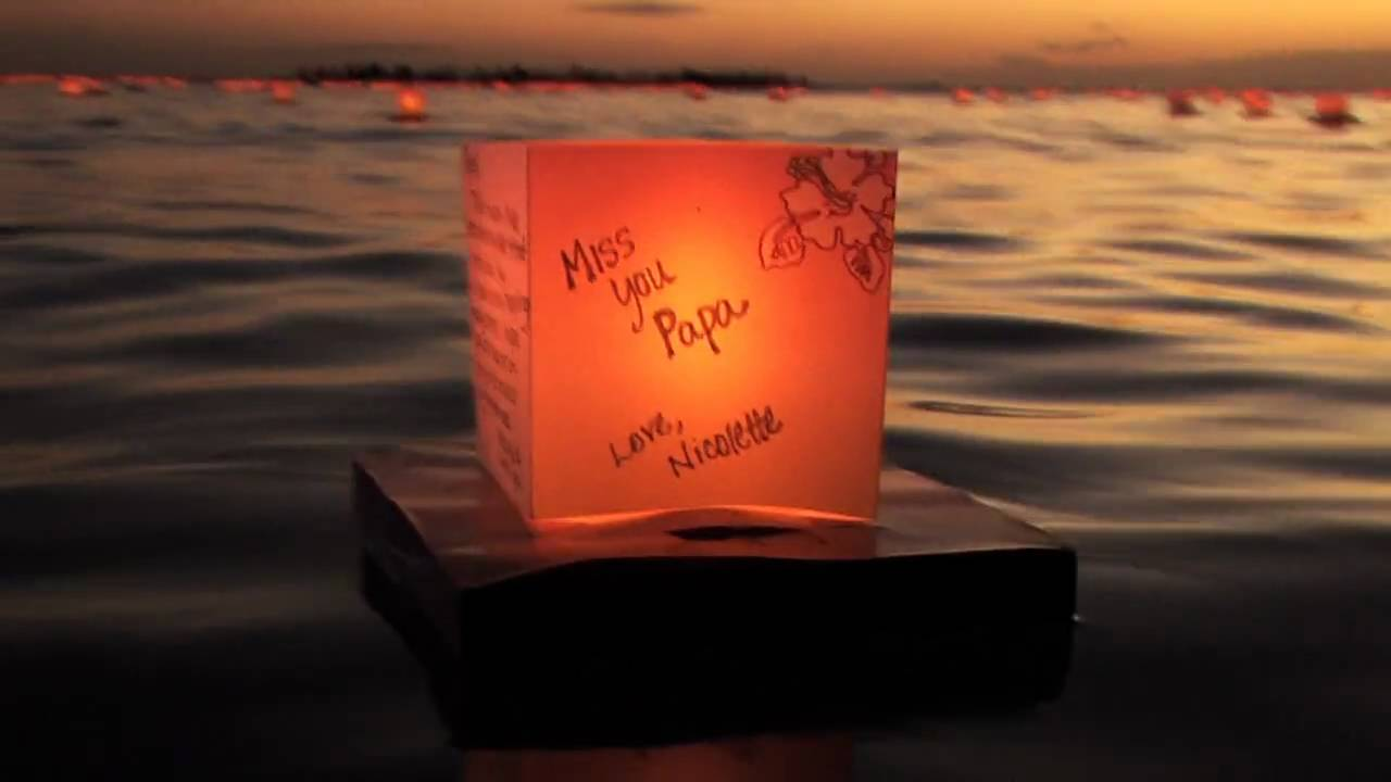 lantern floating hawaii memorial day 2010 youtube
