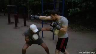 Бокс: как сбить сопернику ритм прямым ударом в корпус.