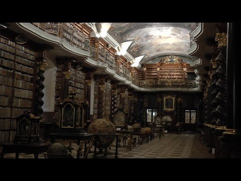 Complete visit to Klementinum. Includes the Mirror Chapel and the Baroque Library. HD video.