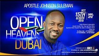 Open Heaven  DUBAI UAE  Day 2 Evening  Apostle Johnson Suleman