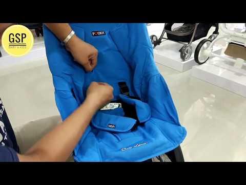 Cara memindahkan posisi safety belt stroller pockit