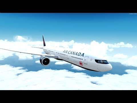 P3D v4 5 PMDG 777 Air Canada Vancouver to Hawaii on vatsim with HF report