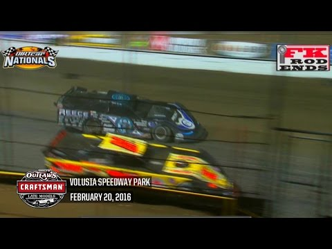 Highlights: World of Outlaws Craftsman Late Models Volusia Speedway Park February 20th, 2016