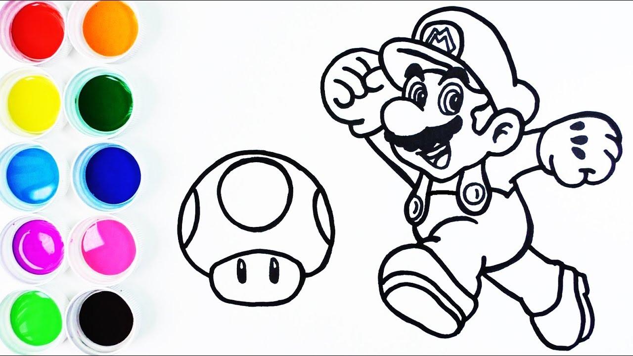Cómo Dibujar Y Colorear A Mario Bros Paso A Paso Dibujos Para Niños Learn Colors Funkeep