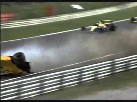 Warwick Flips at Monza and Walks Away - 1990 Italian GP