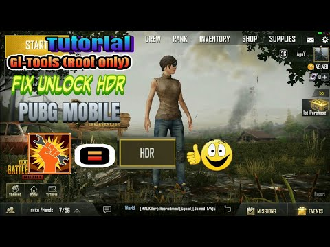 PUBG MOBILE: Tutorial Simple Gl-tools Fix Unlock HDR (Root Only)