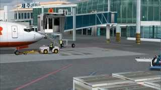 Plane Watching at PacSim's Jeju Int'l (Korea) (FSX)