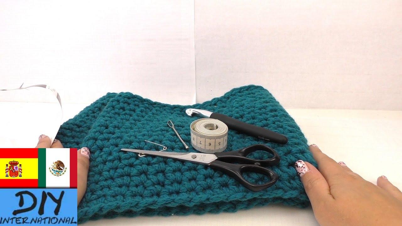 Bufanda de tejido sencillo, para principiantes - Tutorial fácil ...
