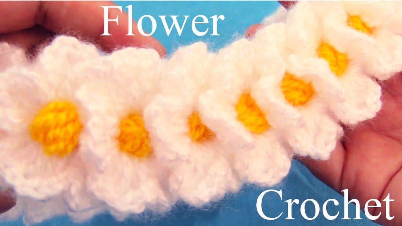 Tejido con ganchillo crochet como hacer flores learn - Como hacer flores de ganchillo ...