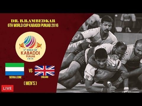 Sierra Leone Vs England Men's | Dr. B. R. Ambedkar 6th World Cup Kabaddi Punjab 2016