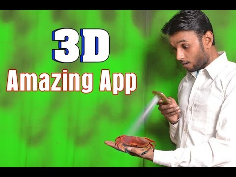 Android best 3D funny Camera | The 3D Crab will appear at your house