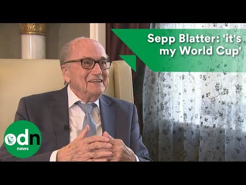 Sepp Blatter lands in Russia saying 'it's my World Cup'