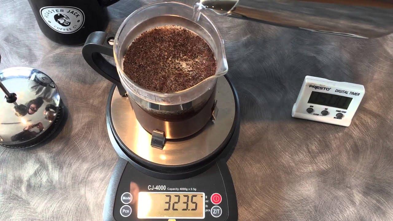Roasterjack Coffee Co French Press Demo - YouTube