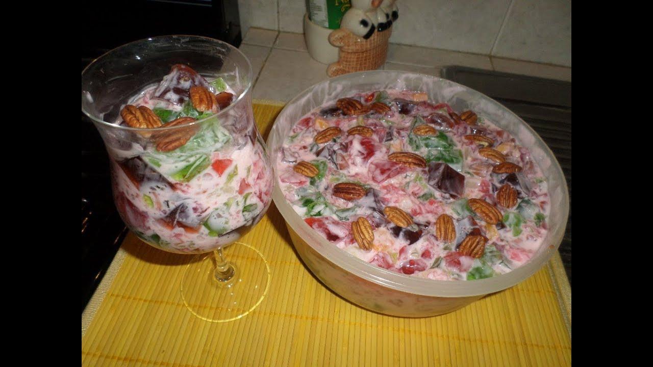 Gelatina cuadros con yoghurt y fruta youtube - Postres con frutas faciles ...