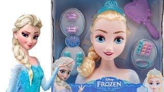 Je COIFFE la REINE DES NEIGES Elsa Frozen tête à coiffer meilleurs jouets