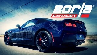 Borla Dual-Stage Exhaust Choices for Corvette C7 2014-2019 with NPP