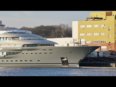4K | Yacht Project SHU new views - Lürssen shipyard
