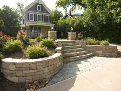 Retaining Wall Front Yard Landscaping Ideas Harscape Front Yard Landscaping Ideas Youtube