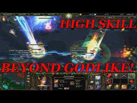 DOTA 1 - LINA HIGH SKILLED GAME (10k POINTS) BEYOND GODLIKE!