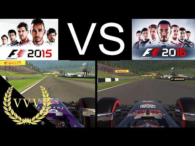 F1 2015 Vs F1 2016 Red Bull Ring