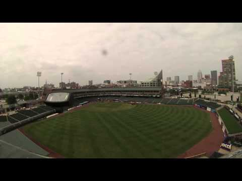 Louisville Slugger Field's overnight transformation from baseball field to soccer field