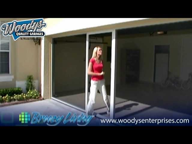 Garage Screen Door System Demonstration Video By Woodys Enterprises U0026  Breezy Living   YouTube