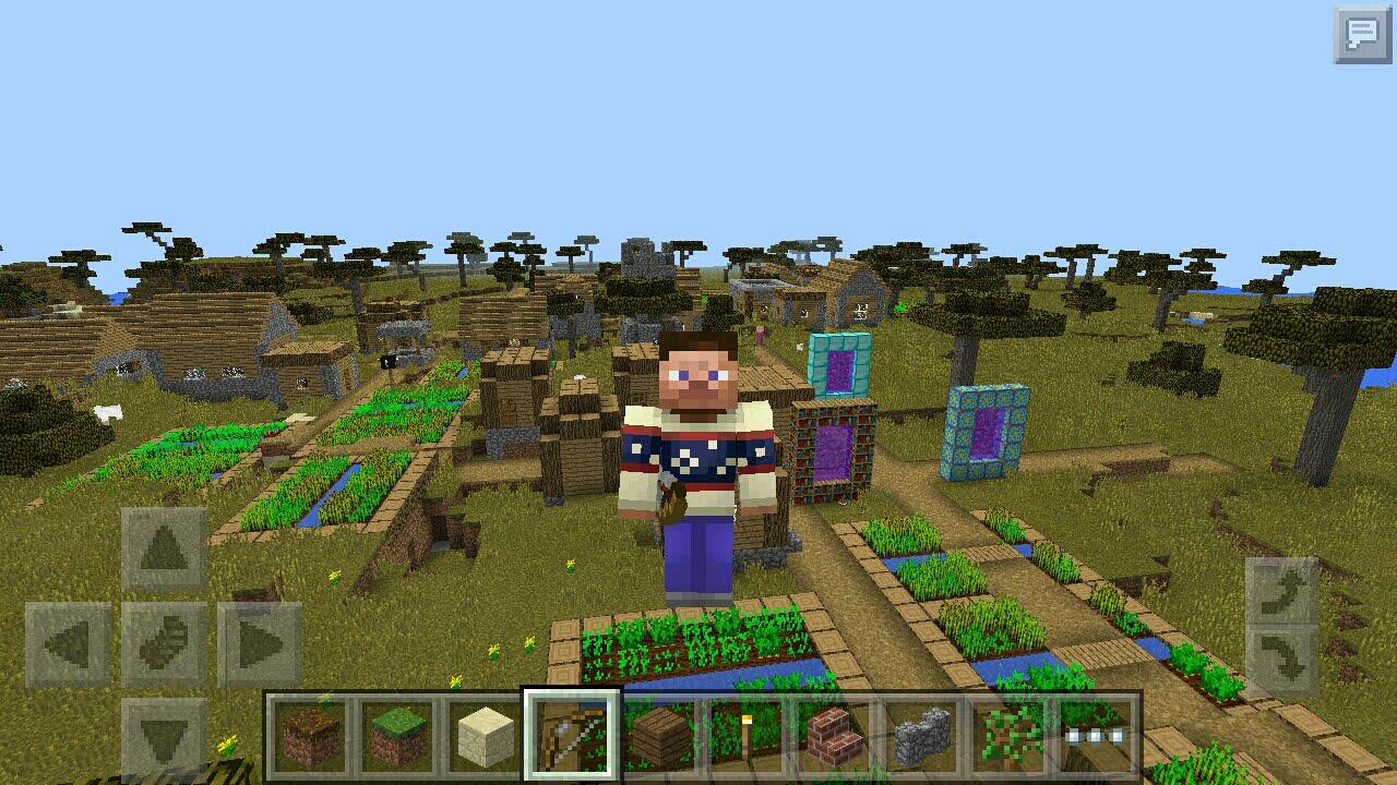 коды для майнкрафт 0.14.0 на деревню с большим домом #6