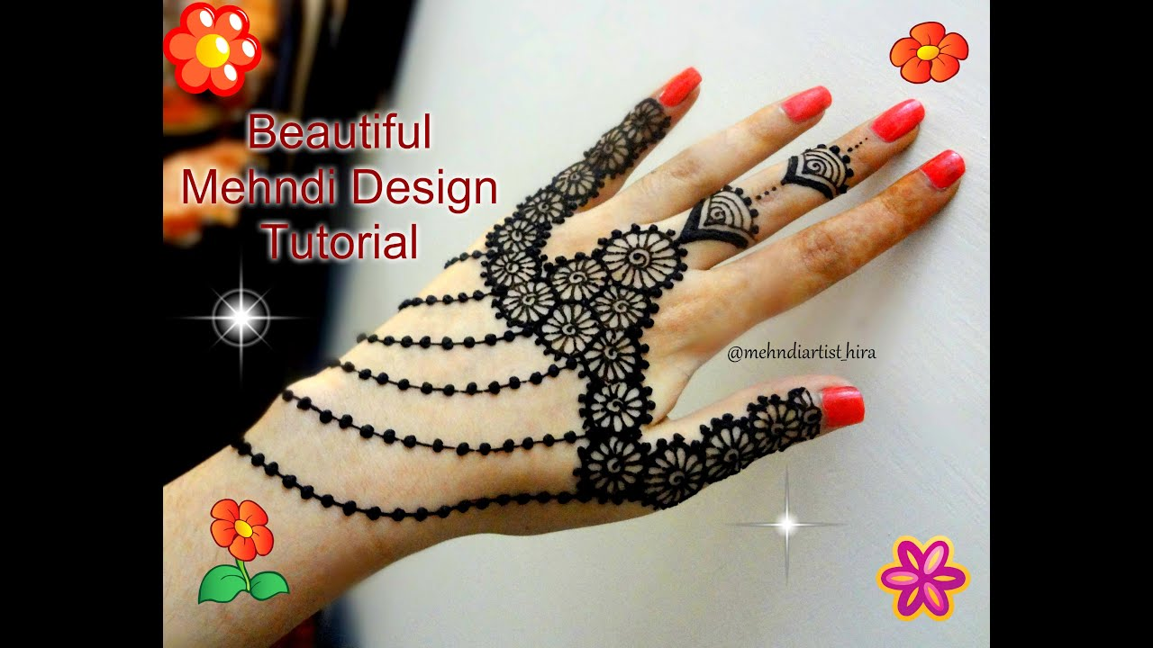 Latest mehndi designs 2016 2017 top 47 mehndi styles - How To Apply Easy Simple Stylish Jewellery Mehndi Designs For Hands Tutorial For Weddings And Eid Youtube