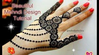 diy best and beautiful latest stylish jewellery mehndi henna design tutorial for weddings and eid