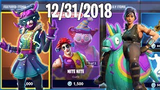 HAPPY NEW YEAR! December 31st New Skins - Daily Fortnite Item Shop