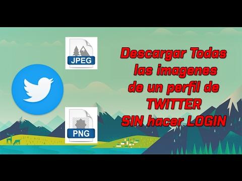 Descargar Todas las imagenes de un Perfil de twitter a la vez SIN hacer LOGIN!