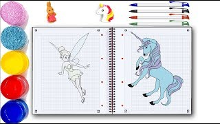 How to Draw Unicorn Ladybird and Black Cat Drawing a Cute Unicorn   Learn Colors with Unicorn
