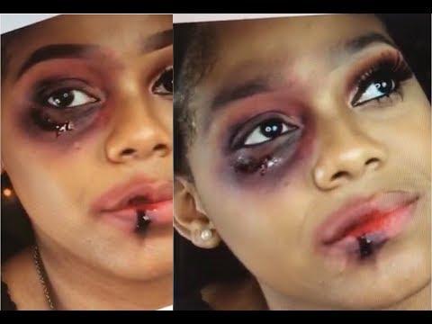 How To: Do Bruised Black Eye Makeup Tutorial   Halloween Tutorial