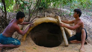 primitive tool build underground house