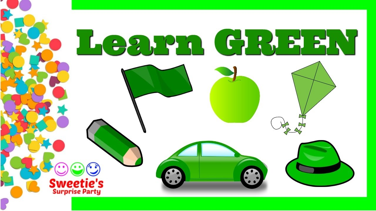 Learn the Color GREEN | Preschool and Toddler Learning | Learn ...