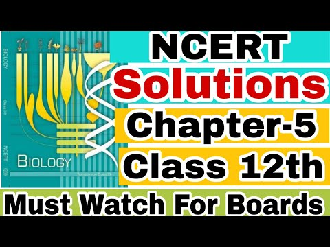 Biology 12th NCERT Solutions of Ch-5 Principles of inheritance and variations For CBSE Boards thumbnail