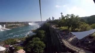 New Niagara Falls 2200 foot Zipline ride shot w/GoPro Hero4 POV headcam (4K ultraHD)