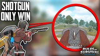 17 Kill Shotgun Only win! (Gold Mode+) | Rules Of Survival