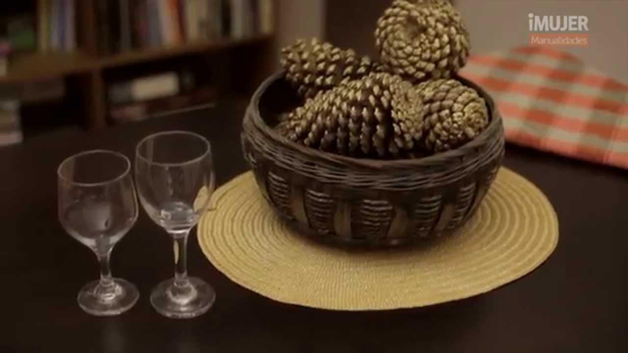 C mo hacer un centro de mesa con pi as youtube - Centros de mesa con pinas ...