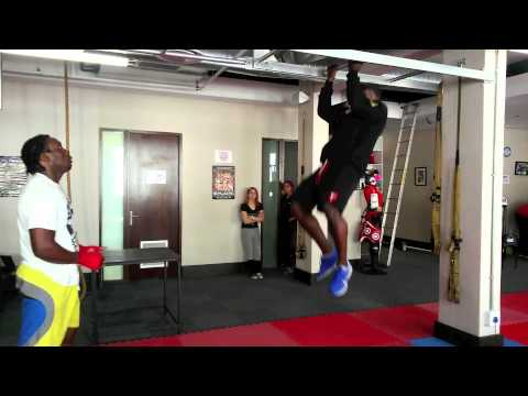 Alain Ngalani training at Impakt Sports and Fitness Centre Cape Town