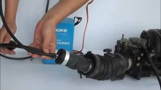 Testing the leak of car engine by using A1 Pro Turbo Smoke Automotive Leak Detector